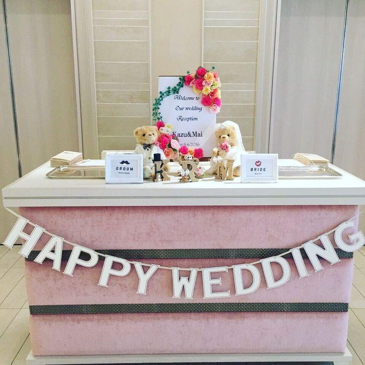 結婚式の受付の可愛いデコレーションまとめ | marry[マリー]