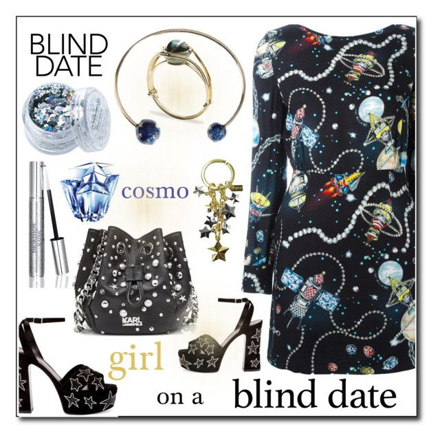 Cosmo girl on a blind date :-) by amisha73 on Polyvore featuring moda, Love Moschino, Yves Saint Laurent, Karl Lagerfeld, Valentino, Coach, Christian Dior, Thierry Mugler, In Your Dreams and blinddate