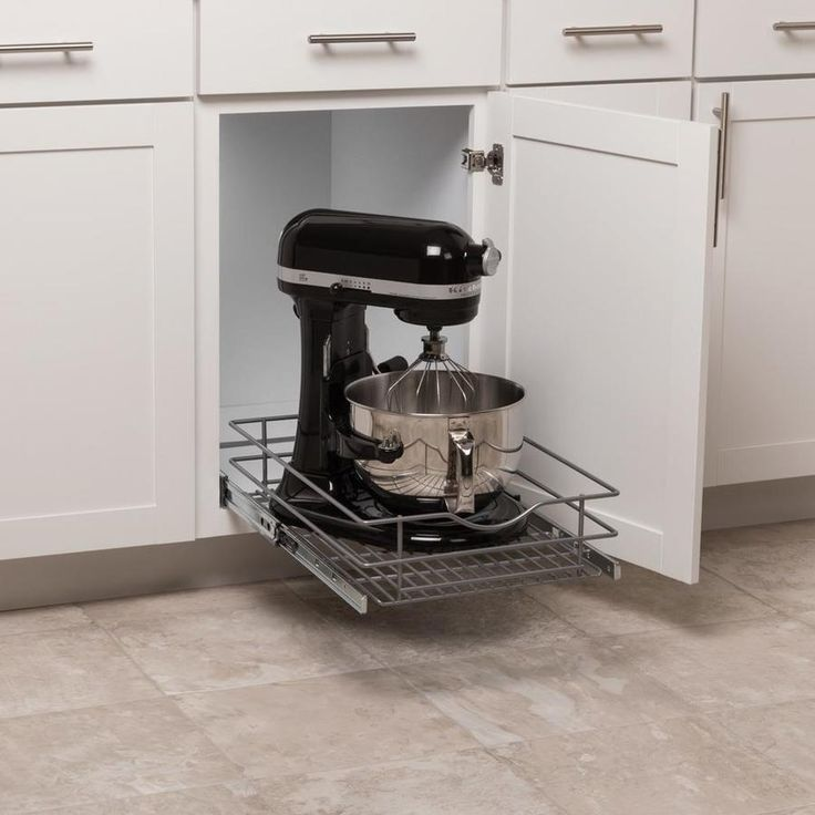 Simply Put 14.5-in W x 5.6875-in 1-Tier Pull Out Metal ...