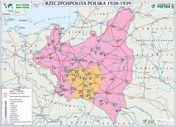 Scienna Mapa Historyczna Rzeczpospolita Polska 1920 1939 1
