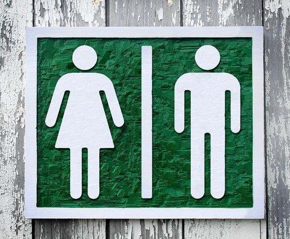 wood restroom sign hand carved ladies room mens room unisex bathroom sign