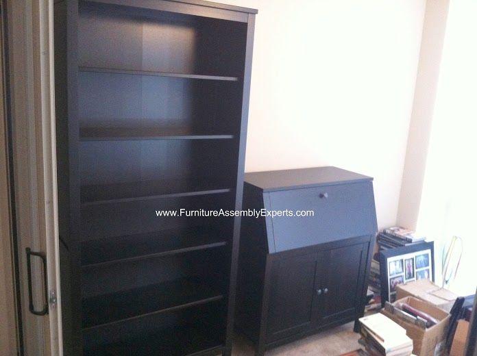 ikea hemnes bookcase and secretary desk assembled in. Black Bedroom Furniture Sets. Home Design Ideas