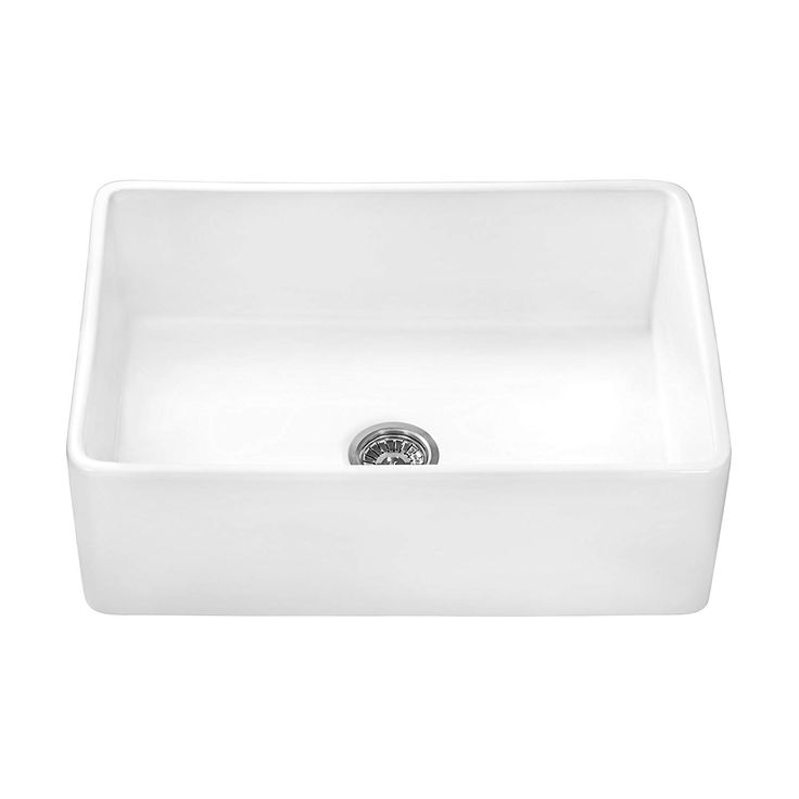 Ruvati 33 X 20 Inch Fireclay Reversible Farmhouse Apron Front Kitchen Sink Single Bow Cast Iron Farmhouse Sink Apron Front Kitchen Sink Fireclay Farmhouse Sink