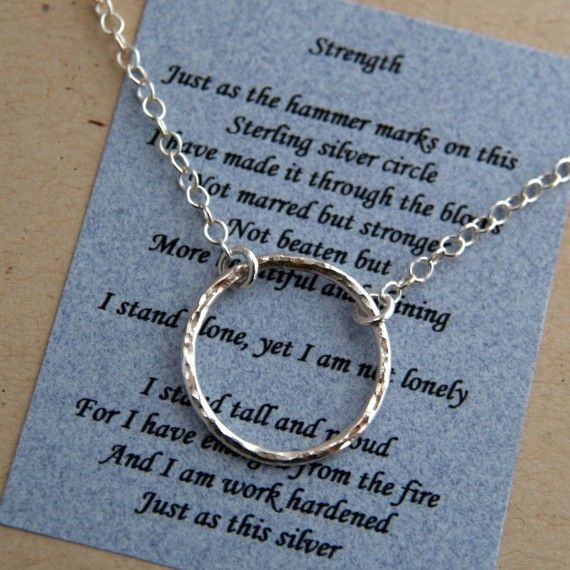STRENGTH JOURNEY NECKLACE With Poem Sterling by CharOuellette