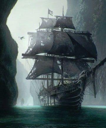 imagenes de barcos piratas para dibujar