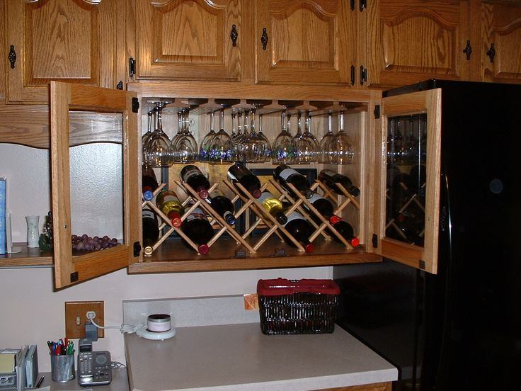 wine rack cabinet | How To Make A Cheap Wine Cabinet At Home | ifood.tv