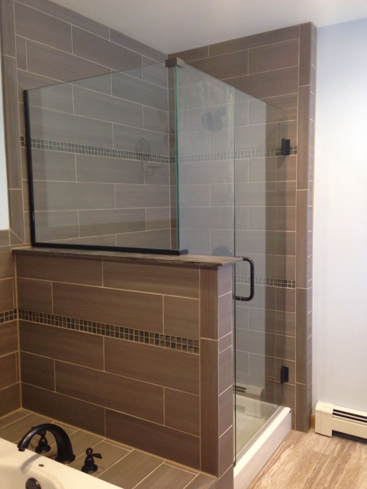 Finished Product Seamless Glass Shower Door Addition