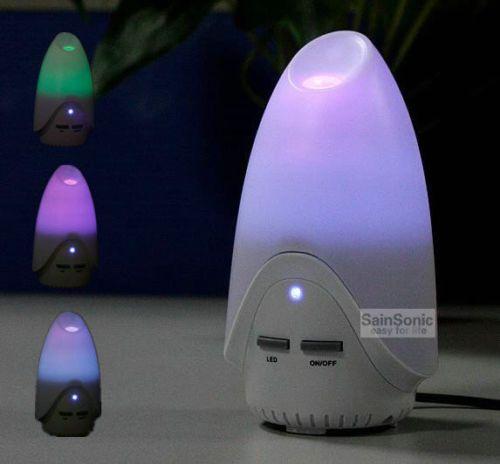 SainSonic USB LED Ultrasonic Air Humidifier Aroma Essential