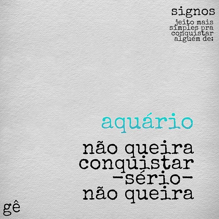 Poesias do Gê #Aquario