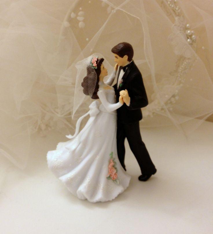 "Vintage Wedding Cake Topper - Romantic Dancing Bride and Groom - ""Treasured"". $38.00, via Etsy."
