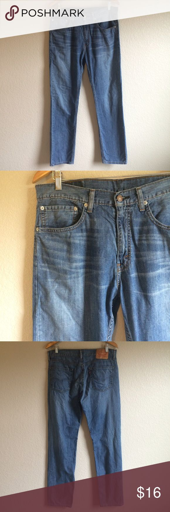 Levis 505 Jeans These light wash Levi's 505 jeans are in gently used condition. 34x34. Levi's Jeans