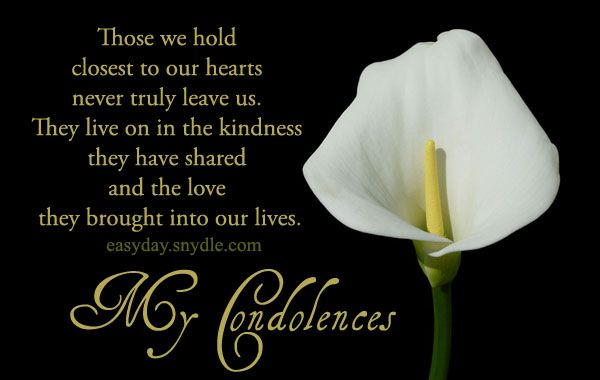 Deepest Condolences Messages for Cards and Flowers | Easyday