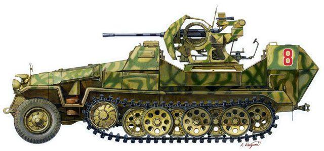 Image result for German's Sd.Kfz.251/17 C 20mm Flak Halftrack