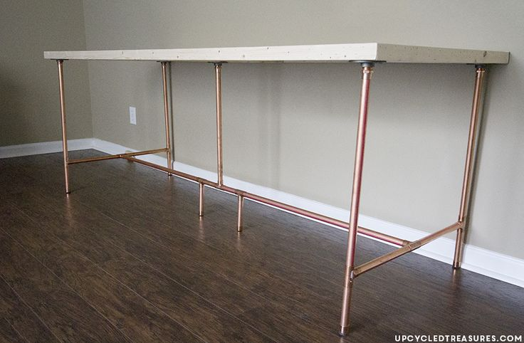 How to Build a Copper Pipe Desk | UpcycledTreasures.com #industrialchic