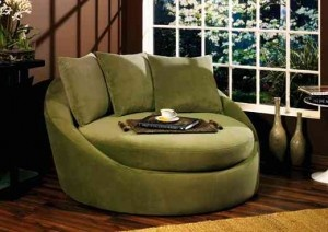 I'd love to snuggle up in this chair.