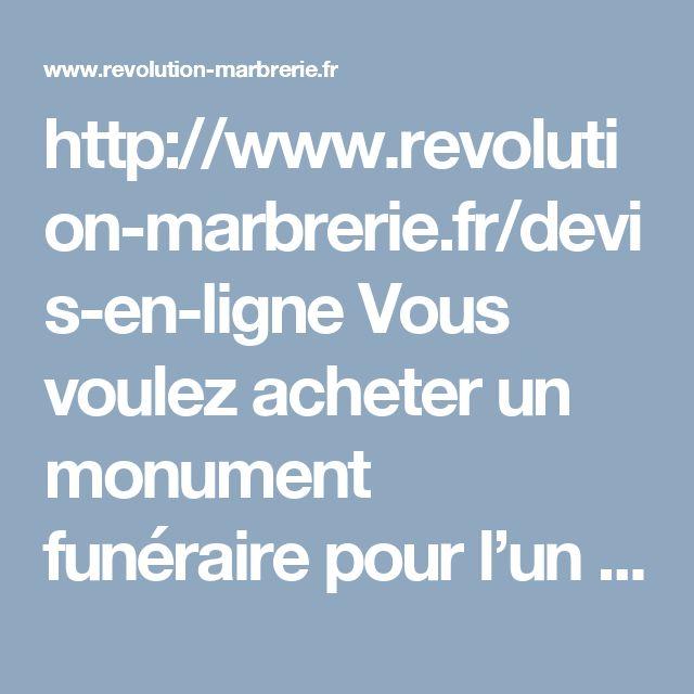 http://www.revolution-marbrerie.fr/devis-en-ligne Vous voulez acheter un monument funéraire pour l'un de vos proches ? Vous souhaitez le personnaliser facilement sans devoir vous déplacer dans l'une de nos agences de la ville de Paris ? Grâce à votre marbrerie funéraire en ligne, vous allez pouvoir créer et personnaliser en quelques clics le monument funéraire de votre choix. #obsèques #marbrerie #PompesFunèbres #PierreTombale