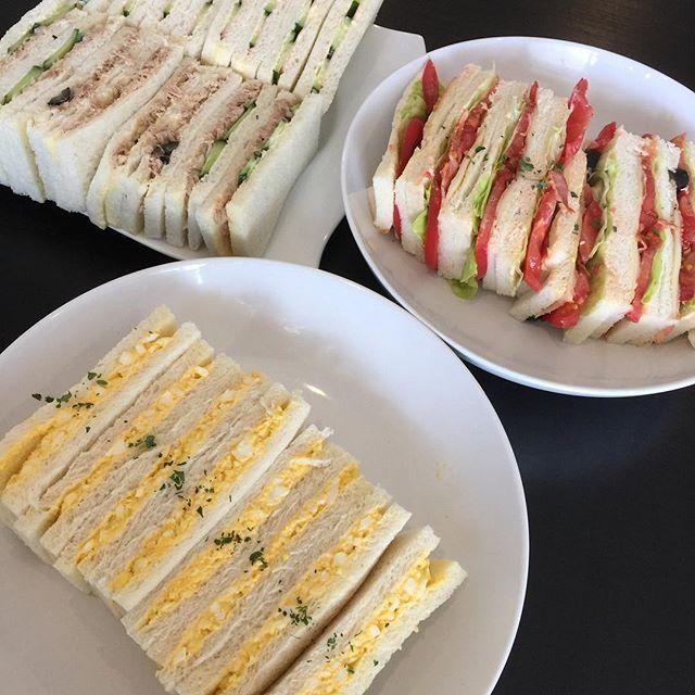 nishisyokudouサンドイッチ! #サンドイッチ #さんどいっち #たまごサンド #ツナサンド #BLT #ハムきゅうり#ベーコンレタス  #お家ご飯 #おうちごはん #おうちご飯 #にし食堂