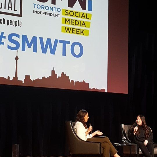 Listening to @girlwithnojob during #SMWTO in Toronto