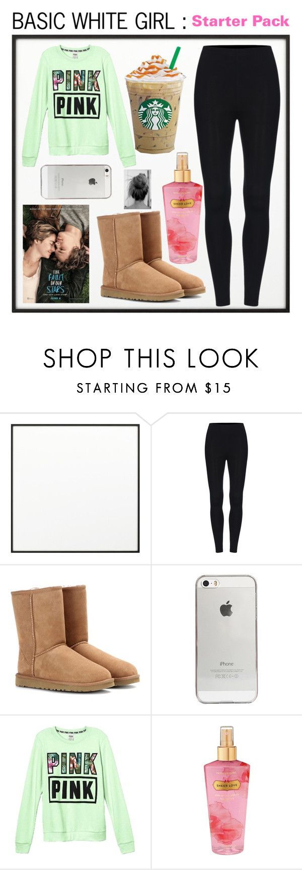 BASIC WHITE GIRL : STARTER PACK by beautybyee ❤ liked on Polyvore featuring By Lassen, UGG Australia, Agent 18 and Victorias Secret
