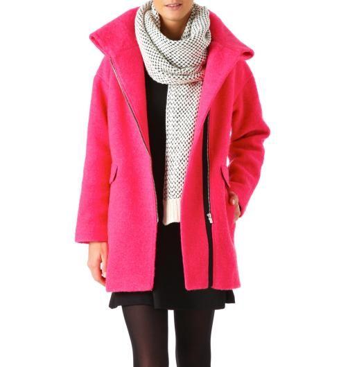 Manteau en laine bouillie #pink @promod j'ose ?