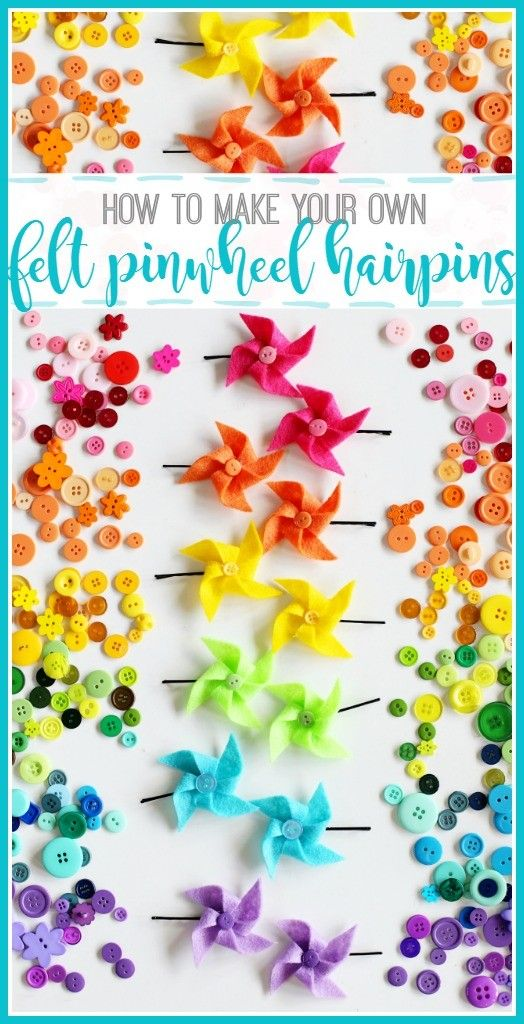 Summer Fun Ideas| Pinwheel Tutorial| I'm excited to share these Felt Pinwheel Hairpins with you today as part of the Idea Room Summer Series!