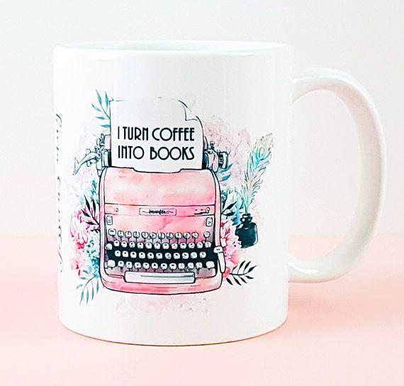 Writer's Mug, Author Mug, I Turn Coffee Into Books, by missbohemia on Etsy