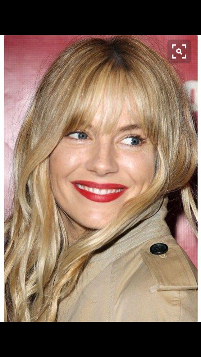 Pretty fringe and blonde on sienna miller