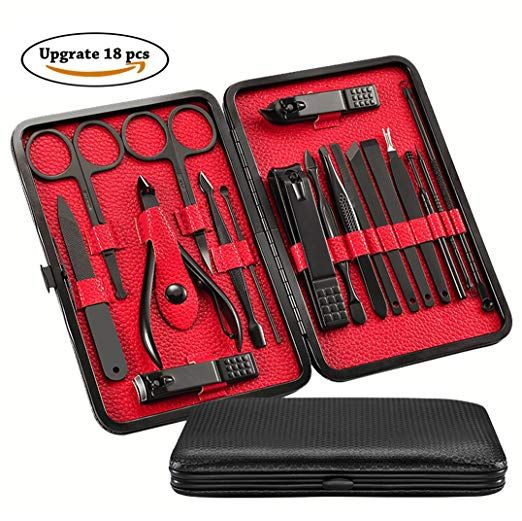 Upgrade 18-in-1 Manicure Set, HathLove Nail Kit and Pedicure Set for ...
