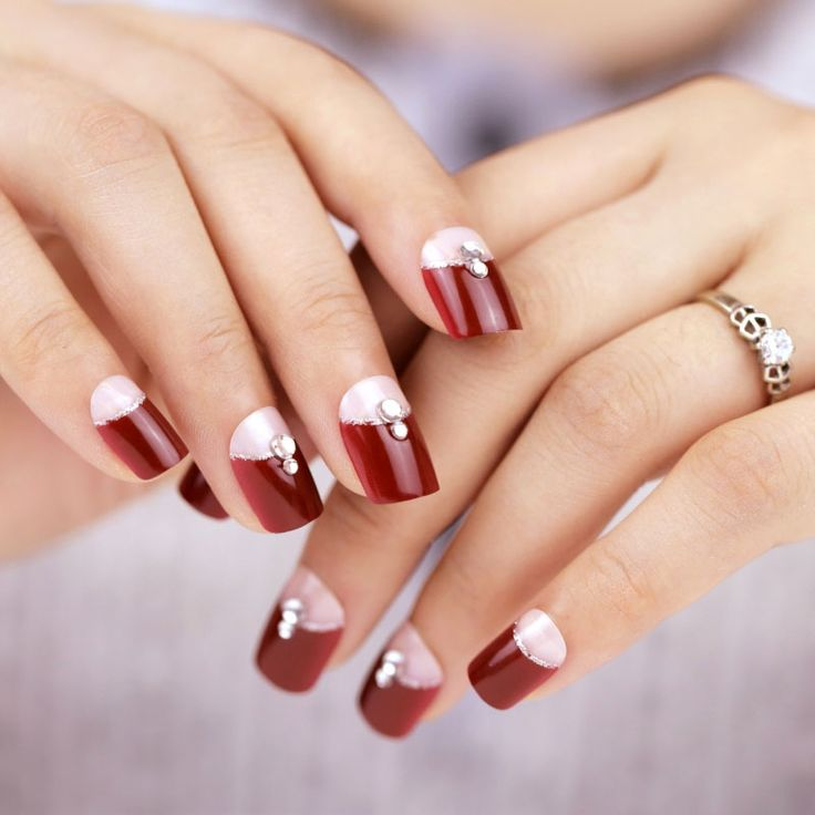 Best 25+ Two Color Nails Ideas On Pinterest