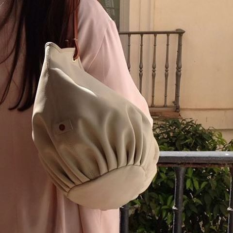 """""""Spring! What a great season"""" - Leather shoulder bag, The Parchment Talega"""