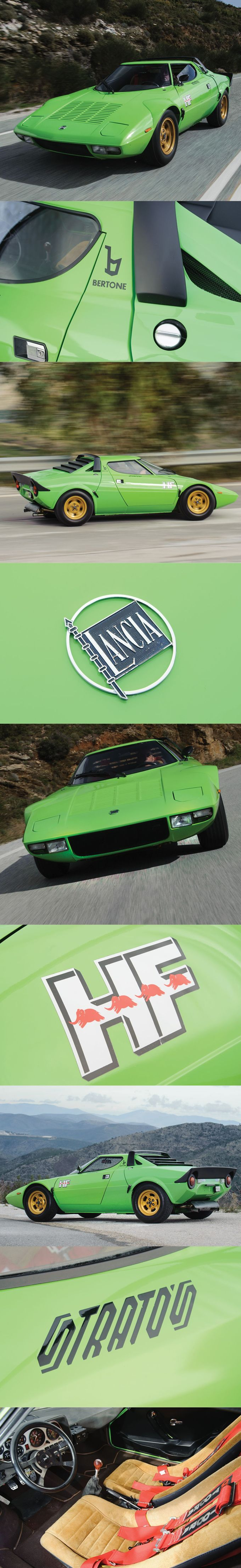 1973 Lancia Stratos HF Stradale / Marcello Gandini at Bertone / 192hp Dino V6 / 492pcs / Italy / green
