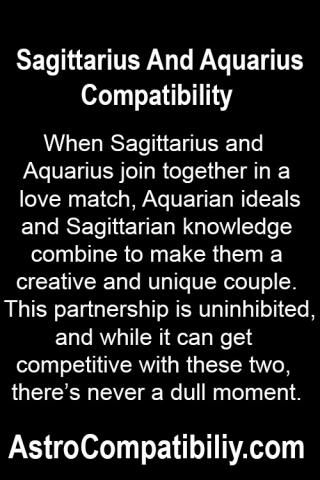 When Sagittarius and Aquarius join together in a love match.... | AstroCompatibility.com