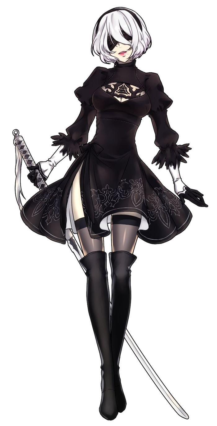Anime Character 2d : Best images about nier on pinterest mouths cutout