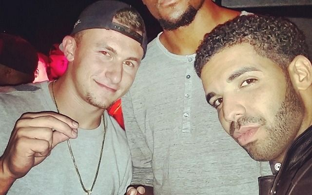 Watch: Drake Gives Money Sign for Johnny Manziel to Start