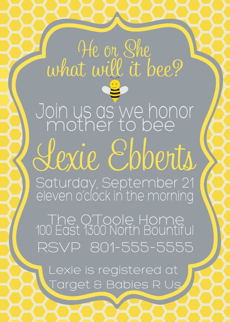 5X7 What Will it Bee Baby Shower Invitation  by BlondieDesignz, $12.00