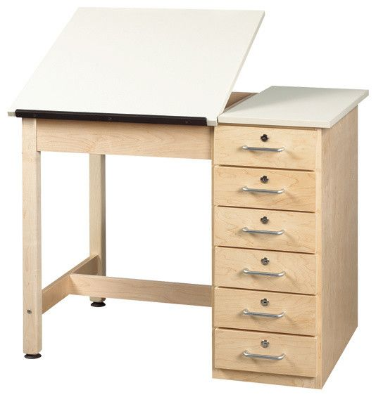 Great Shain Split Top Drafting Table With Drawer Base   Contemporary   Desks    School Outfitters