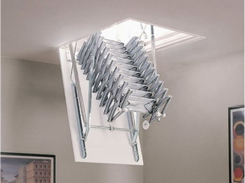 Hidden Retractable aluminium attic ladder