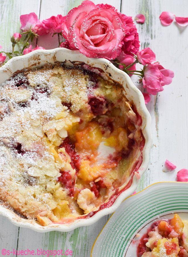 Pfirsich Melba Clafoutis Ein Sommertraum zum Frühstück, Brunch oder Dessert