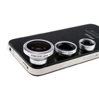 freeshipping 3 в 1 широкоугольный объектив + макро-объектив + 180 рыбий глаз линзы для iphone 4 4s 5 5s 5c, для всех мобильные телефоны цифровых камер 244,46