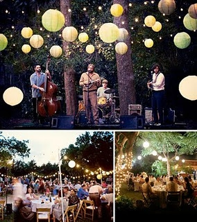 I hope to one day have an outdoor, backyard wedding like this...so simple, casual and sweet.