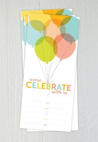 Free Printable Birthday Invitations - © One Charming Party