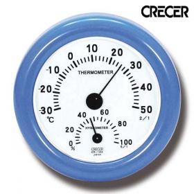 クレセル CRECER 温度計 湿度計 おしゃれ かわいい 温湿度計 CR-103 ブルー エアコンマネージャー  こだわり雑貨本舗 リビング雑貨