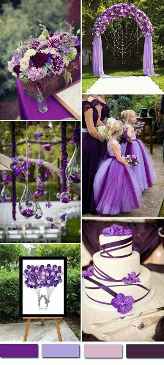 A Purple Wedding...not sure what the accent color(s) should be. Im think grey though.