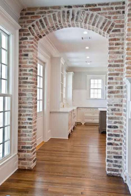 brick archway in kitchen - Google Search                                                                                                                                                                                 More
