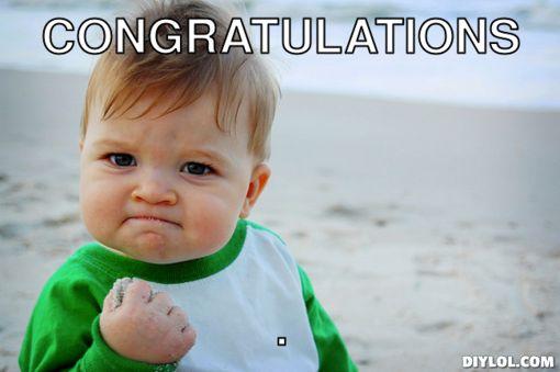 baby congratulations meme