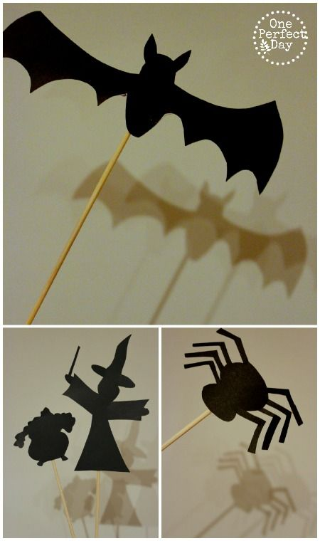 Halloween shadow puppets - printable