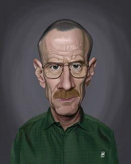 Bryan Cranston by robart at zippi.co.uk art | decor | wall art | inspiration | caricature | home decor | idea | humor | gifts
