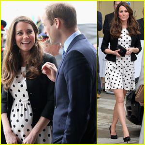 Kate Middleton: Pregnant Warner Bros. Studios Visit with Prince William!