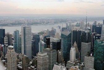 New York, Skyline dal Rockefeller Centre - Midtown e New York Times building (RPBW, 2000-2007)