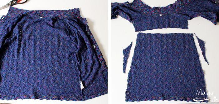 riciclo creativo di un vecchio maglione
